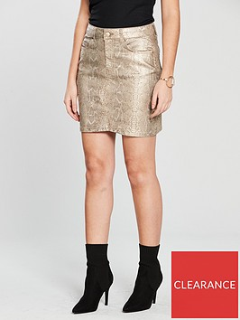 v-by-very-snake-print-skirt-gold