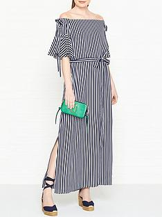 hugo-kabowy-bardot-striped-dress-navywhite