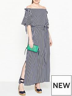 hugo-kabowy-bardot-striped-dress-navywhite
