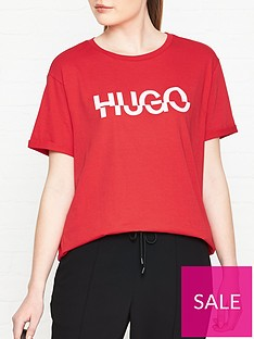 hugo-denalisa-broken-logo-t-shirt-red