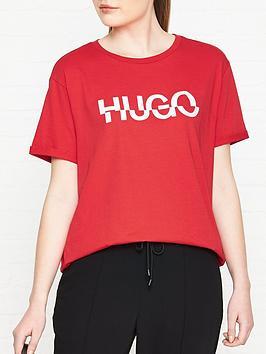 hugo-denalisa-broken-logo-t-shirt-red