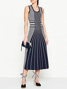 hugo-silbiana-sleeveless-stripe-knitted-midi-dress-navywhite