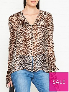 068d21c4 BEC & BRIDGE Kitty Kat Leopard Print Blouse - Leopard