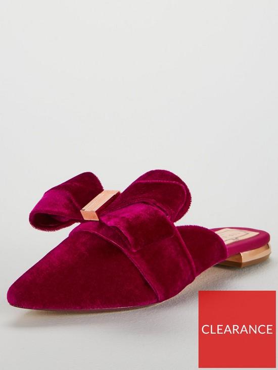 2b368056b Ted Baker Qamini Pointed Flat Mule Shoe - Pink