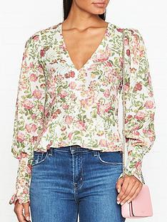 bec-bridge-le-follies-floral-print-blouse-pink