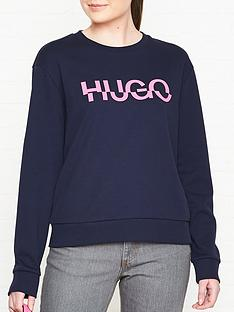 hugo-nicci-broken-logo-sweatshirt-navy