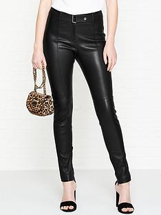 hugo-lonea-belt-detail-leather-trousers-black