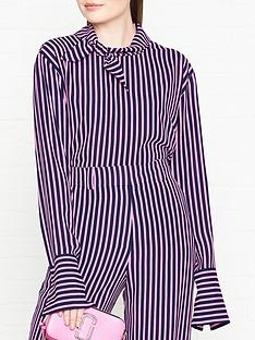 hugo-cilena-stripe-tie-neck-blouse-pinknavy
