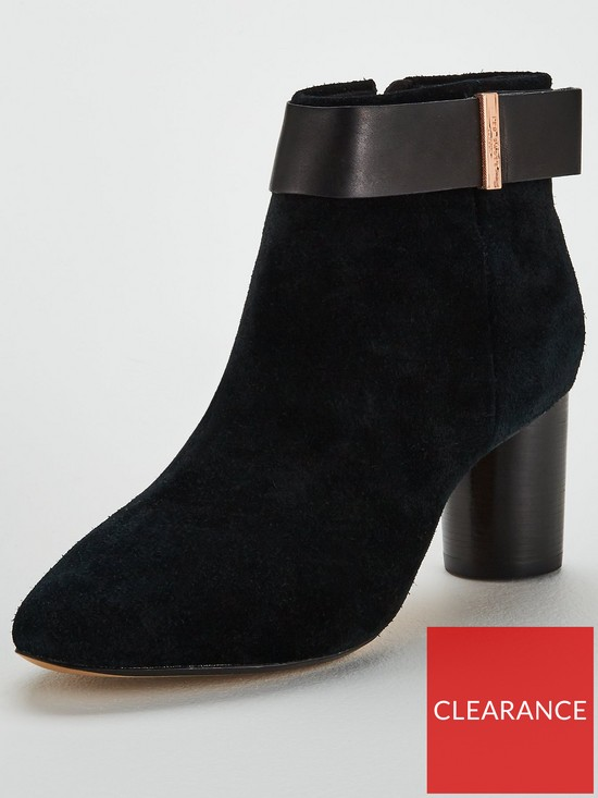1eabb586c Ted Baker Mharia Suede Ankle Boot - Black | very.co.uk