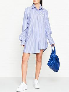 vivienne-westwood-anglomania-chaos-stripe-shirt-dress-blue