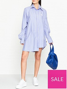 vivienne-westwood-anglomania-chaos-stripe-shirt-dress-blue