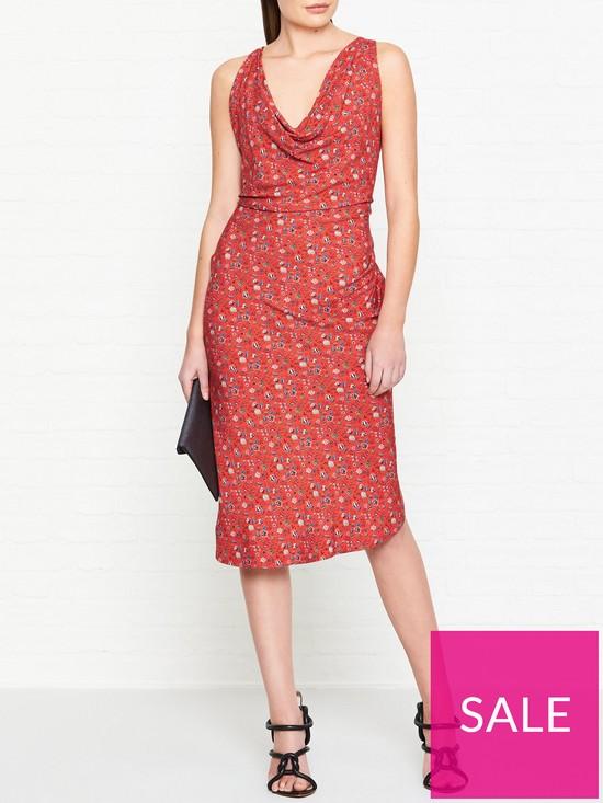 9fe3afa13ca51 VIVIENNE WESTWOOD ANGLOMANIA Virginia Liberty Print Dress - Red ...