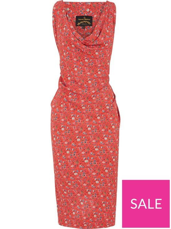 cfe9efb29d97 ... VIVIENNE WESTWOOD ANGLOMANIA Virginia Liberty Print Dress - Red. View  larger