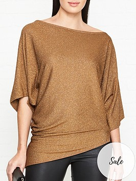 vivienne-westwood-anglomania-infinity-glitter-jersey-drape-top-copper