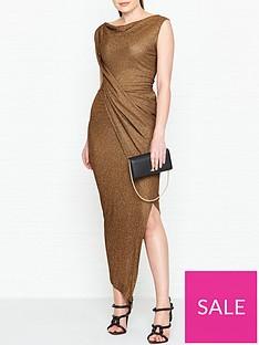 vivienne-westwood-anglomania-vian-glitter-jersey-drape-dress-copper