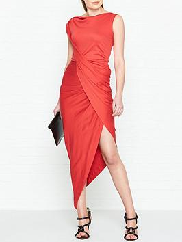vivienne-westwood-anglomania-vian-jersey-drape-dress-red