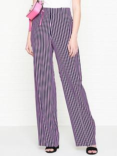 hugo-hatessi-stripe-wide-leg-trousers-pinknavy