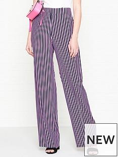 hugo-hatessi-stripe-wide-leg-trousers-pinknavy