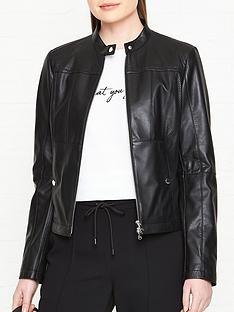 hugo-labina-leather-jacket-black