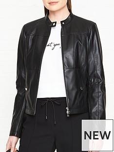hugo-labina-leather-jacket-black