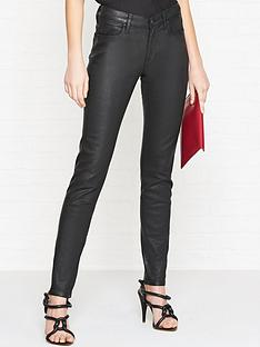 vivienne-westwood-anglomania-high-waist-slim-leg-coated-jeans-black