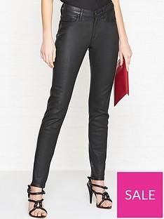 vivienne-westwood-anglomania-high-waist-slim-leg-coated-jeans-black