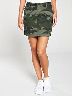 46a2cda2342 V by Very Camo Printed A-Line Skirt - Camouflage