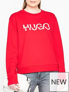 hugo-nicci-broken-logo-sweatshirt-red