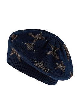 accessorize-sparkle-star-jacquard-beret-navy