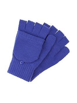 accessorize-plain-capped-gloves-blue