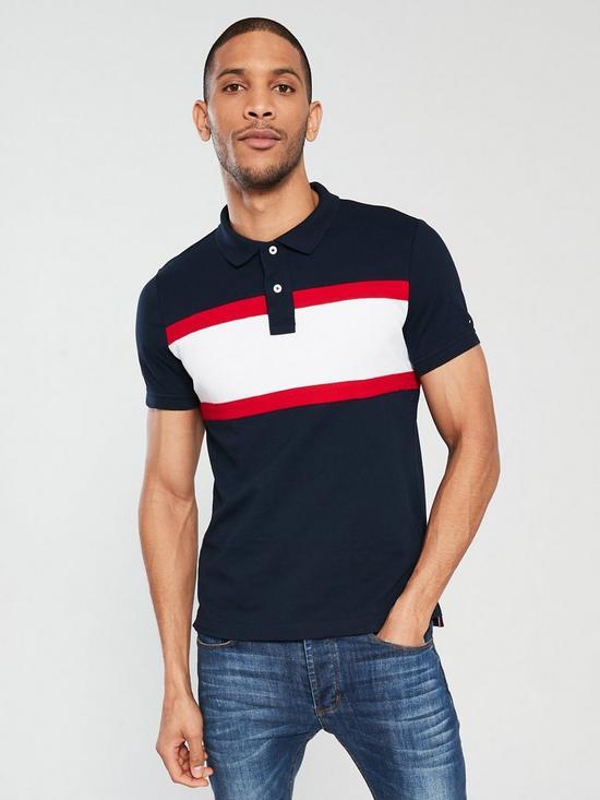 65fddbfe35df Tommy Hilfiger Slim Fit Cotton Polo Shirt - Navy