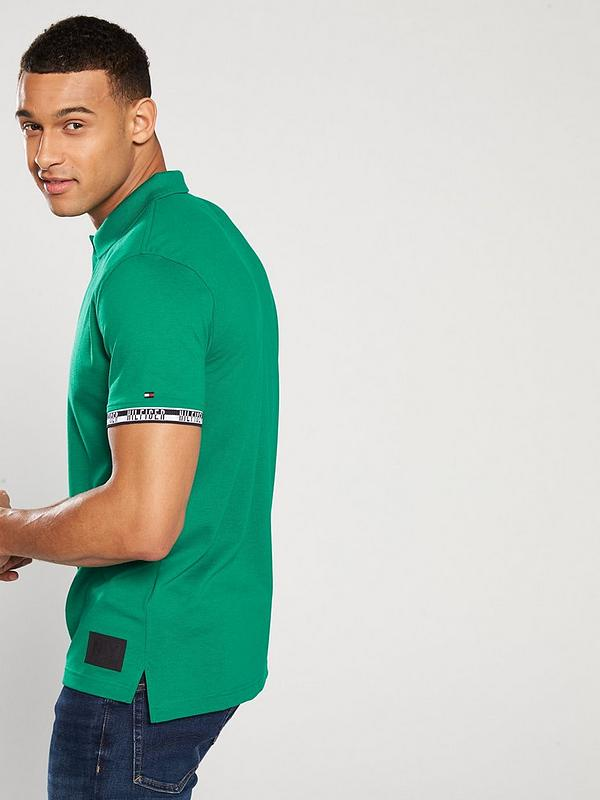 d831145a Tommy Hilfiger Heather Badge Regular Polo - Green | very.co.uk