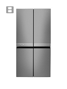 Hotpoint Day 1 Active Quattro HQ9E1L 90cm Wide, 4-Door Fridge Freezer - Stainless Steel Best Price, Cheapest Prices