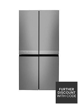 hotpoint-day1-active-quattro-hq9e1l-90cmnbspwide-4-door-fridge-freezer-stainless-steel