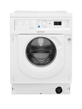 indesit biwmil71452 7kg load, 1400 spin washing machine - white - washing machine only