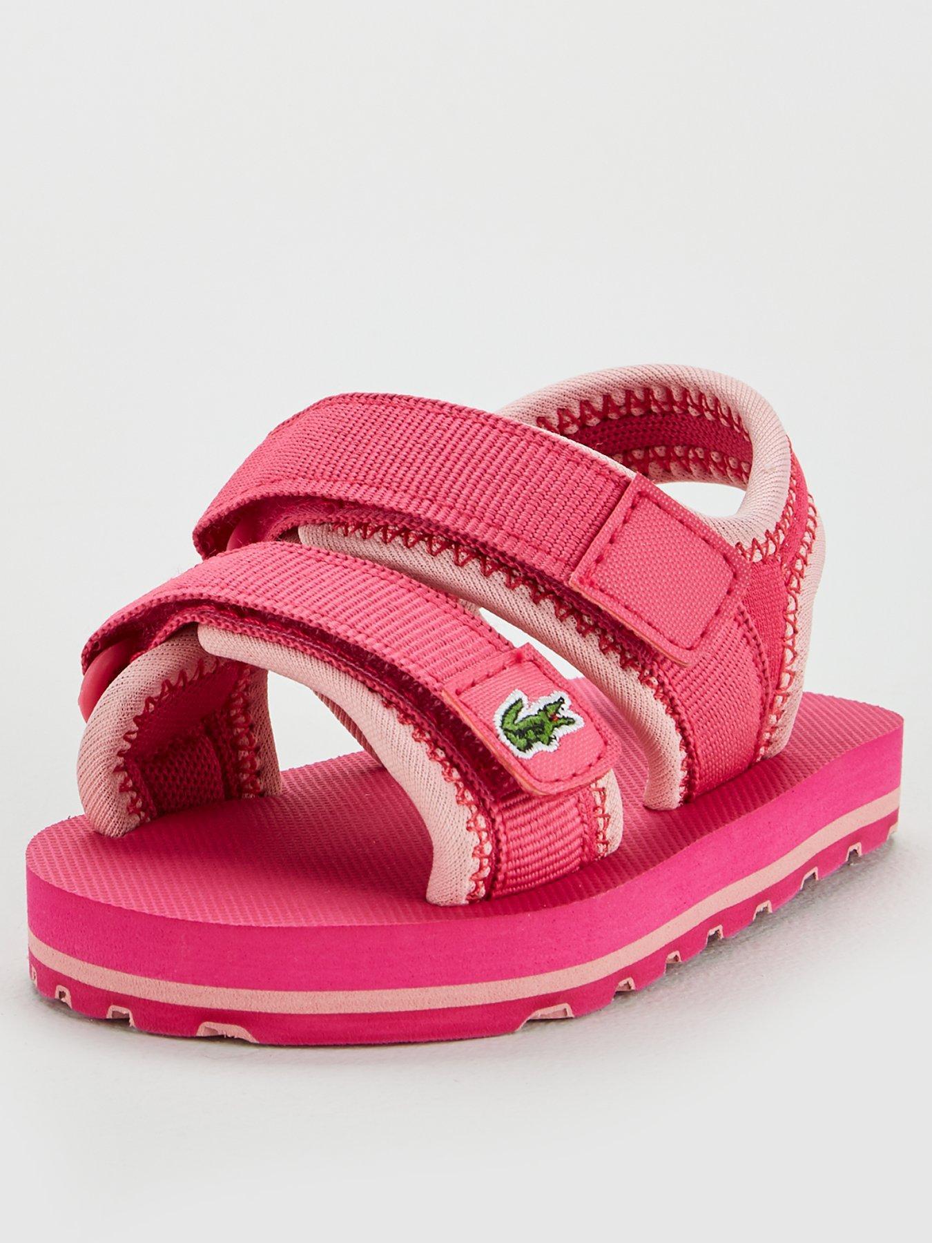709 Girls Baby Pram Sandals Pink and Yellow