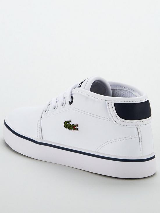 ca6e3808dbe2 ... Lacoste Ampthill 117 2 Chukka Boots - White Navy. View larger