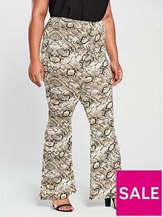 v-by-very-curve-snake-kickflare-trouser-printed