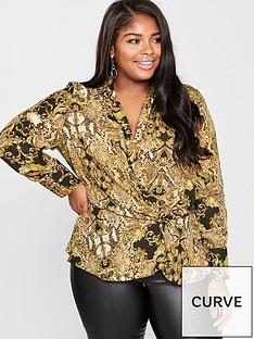 v-by-very-curve-snake-scarf-print-blouse-printed