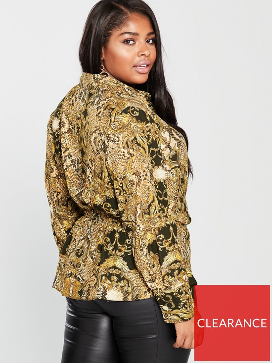 f10626b8dbba80 ... V by Very Curve Snake Scarf Print Blouse - Printed. View larger