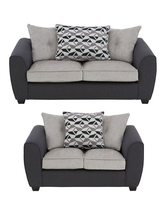 dd4817a1723 Juno Fabric Compact Scatter Back 3 Seater + 2 Seater Sofa Set (Buy and  SAVE!)