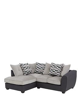 Juno Fabric Compact Scatter Back Left Hand Seater Corner Chaise Sofa