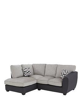 Juno Fabric Compact Standard Left Hand Corner Chaise Sofa
