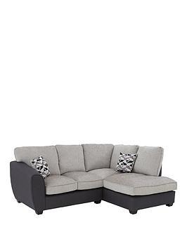 Juno Fabric Compact Standard Right Hand Corner Chaise Sofa