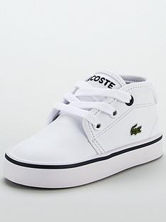 1a5effe9e Lacoste Ampthill 117 2 Infant Chukka Boots - White Navy