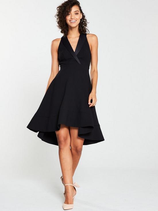 21dcfd9d1897 V by Very Tux Skater Skirt Dress - Black
