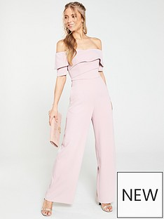396919fa6d1d V by Very Bardot Wide Leg Jumpsuit