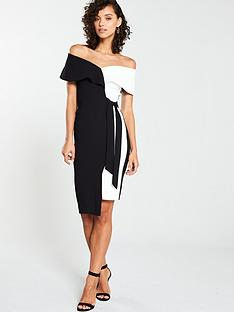 22f6e2bd53 V by Very Mono Tie Pencil Dress - Monochrome