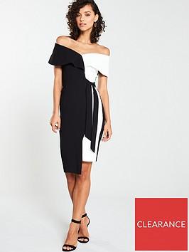v-by-very-mono-tie-pencil-dress-monochrome