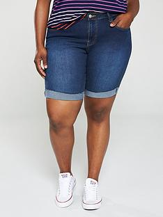 v-by-very-curve-longlinenbsprolled-up-denim-shorts-dark-wash